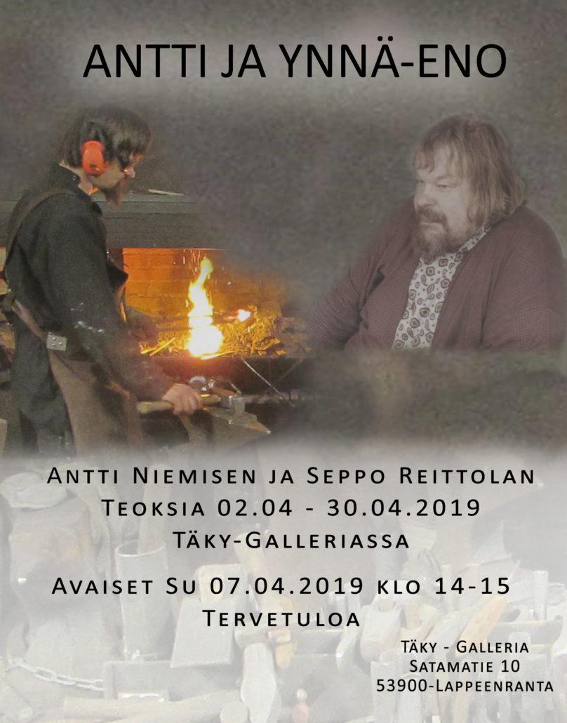 Antti ja Ynnä-eno näyttelyjuliste.
